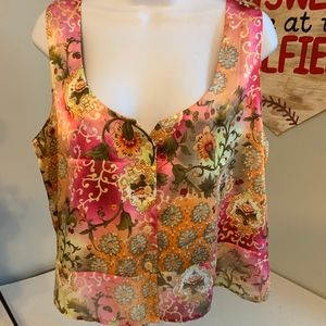 Victoria's Secret cropped floral tank top L